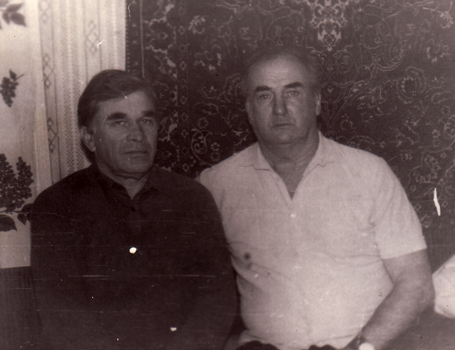 Juozas (right) and a friend after his release