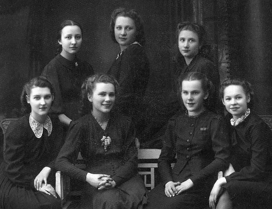 Ligita, Sandra's mother, and her friends in 1941, before deportation