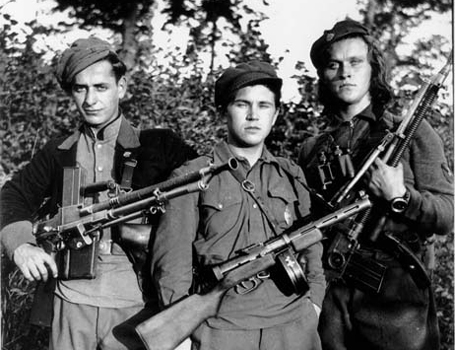 Partisans of Vytis district (centre of Lithuania). <br/> Three days latter, they are killed fighting the NKVD
