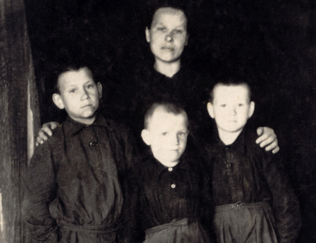 Family of a Lithuanian resistance fighter resettled in the Irkutsk region <br/> in Siberia, 1949