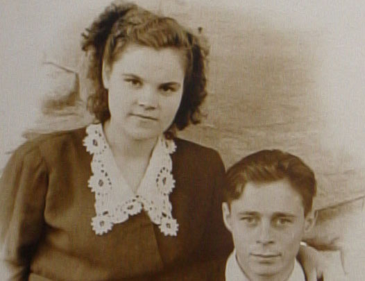 Anna and her husband at the time of their wedding in 1956