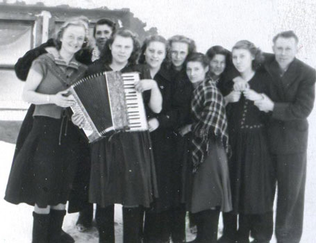 Young people in a kolkhoz in Siberia, 1950s