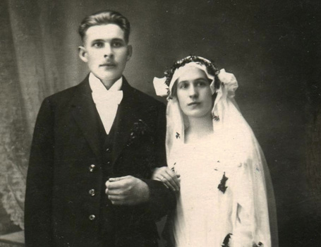 Eela's parents' wedding photograph