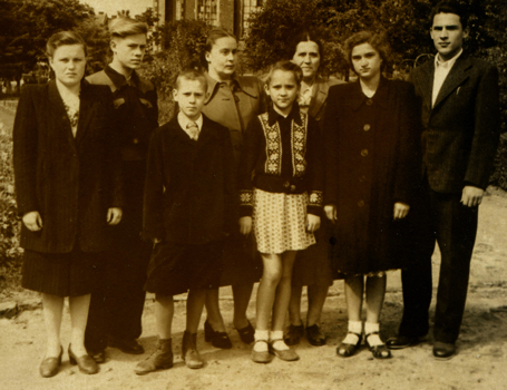 Orest (first on right) with friends in Lviv in 1956