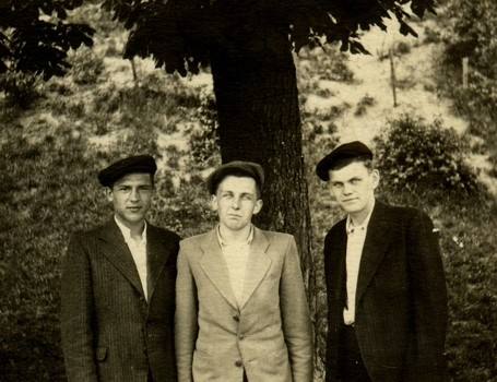 Orest (right) with friends in Lviv