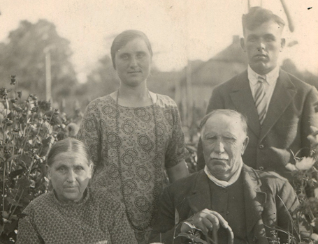 His maternal grand-parents and parents before deportation, 1930