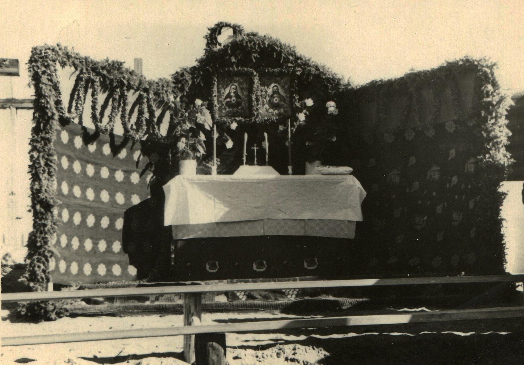 Altar in a village of deportees