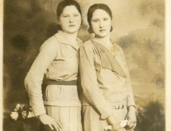 Irena and a friend before the war
