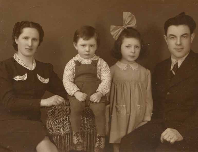 Irena, Ján Antal's mother, her first husband and two children before the war